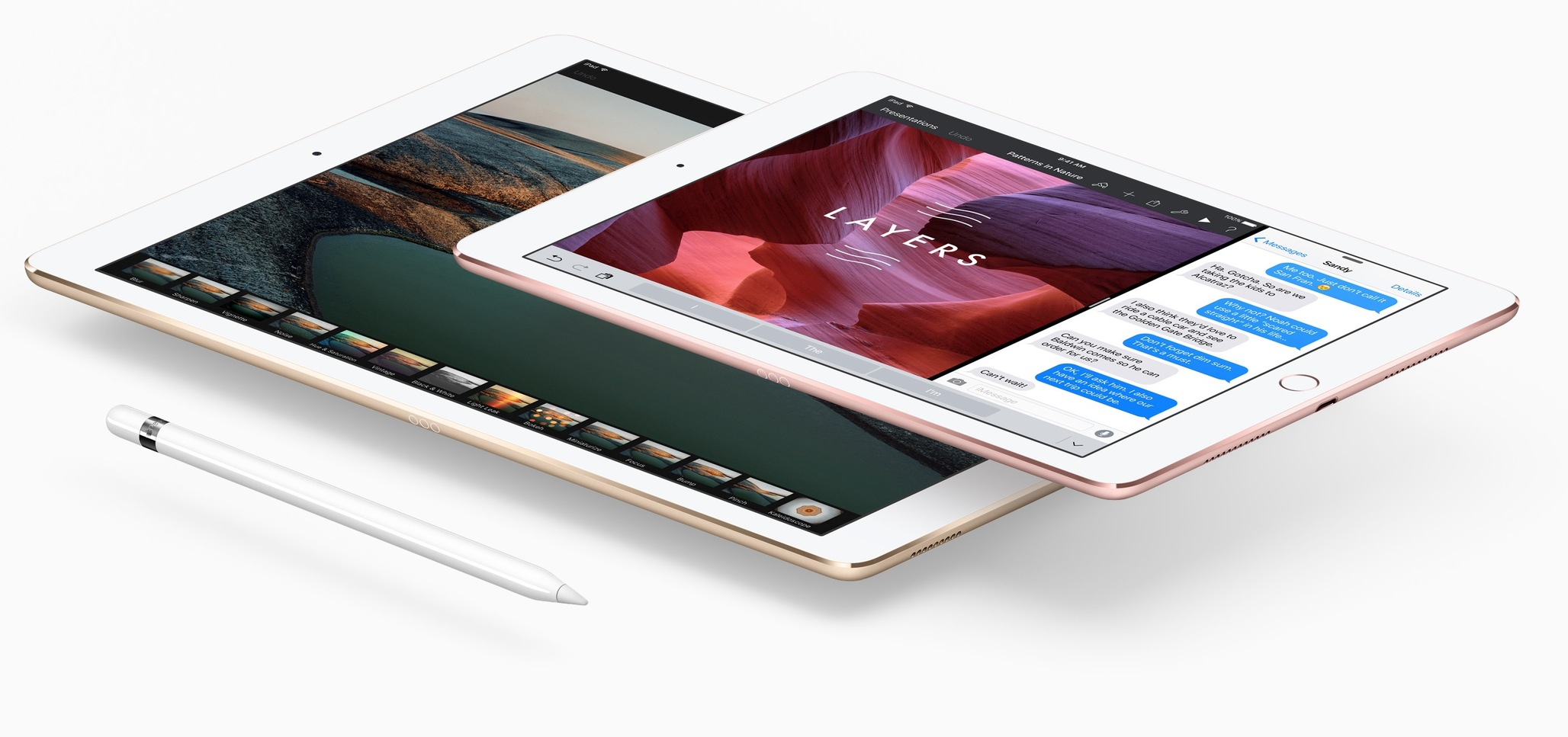 various versions of ipads